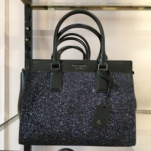 kate spade cameron glitter medium satchel